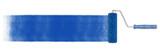 Blaue Bahn Farbe mit Farbroller auf Wand - 185998677