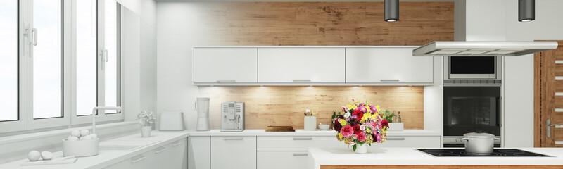 Planung und Entwurf einer Küche als Panorama