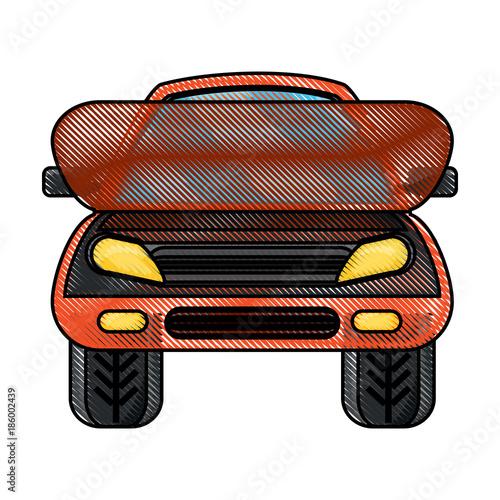 Foto op Canvas Snelle auto s car icon image