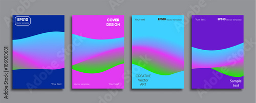 Creative colored cover. Cover design. - 186008681
