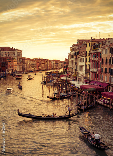 Foto op Canvas Mediterraans Europa Grand Canal at sunset in Venice, Italy