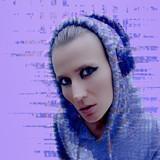 DJ Girl Party Clubbing fashion concept Glitch art design - 186016812