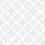Vector pattern with circles.  Geometric seamless simple grey and white modern texture mesh