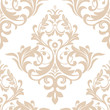 Wallpaper in the style of Baroque. A seamless vector background. Beige and white texture. Floral ornament. Graphic vector pattern - 186018405