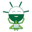 kawaii light bulb icon