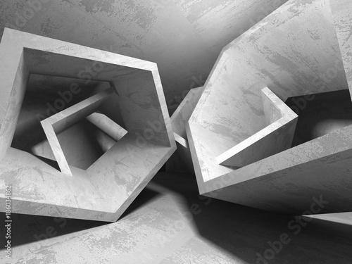 ciemny-pusty-pokoj-betonowe-zardzewiale-sciany-architektura-w-tle