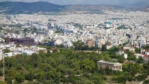Foto op Plexiglas Athene Vu sur Athènes depuis l'Acropole