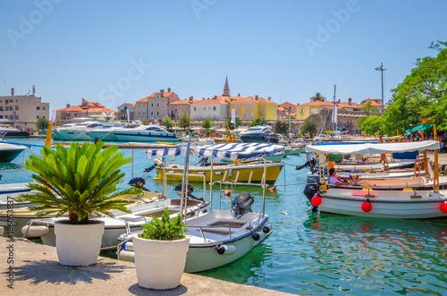 Aluminium Port in old town Budva, Montenegro