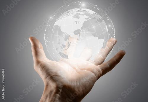Fotobehang Wereldkaarten The future is in your hands.