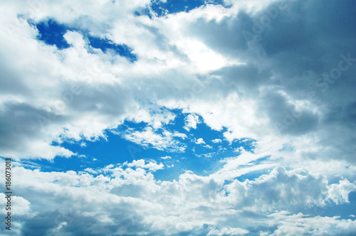Foto op Aluminium Pool 北海道の大きな空