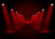 Glowing red spotlights