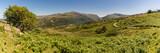 Snowdonia landscape near Rhiwlas, Gwynedd, Wales, UK - with Llyn Padarn and Mount Snowdon in the background