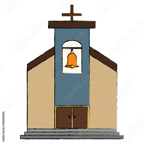 church building isolated icon vector illustration design - 186080280