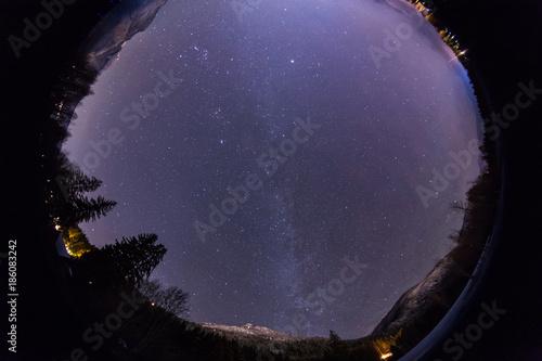 Fotobehang Zwart 360 degree view of dark night sky