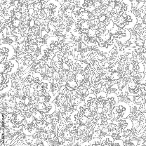Fototapeta Abstract floral seamless pattern