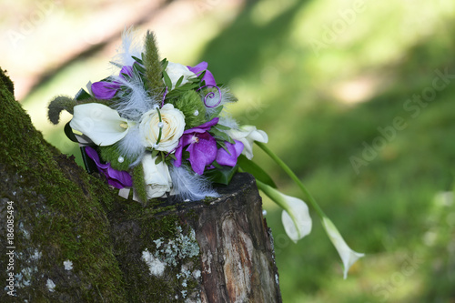 Fotobehang Lavendel mariage marié cérémonie couple union alliances