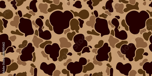 Camouflage Seamless Pattern vector military soldier Duck Hunter isolated wallpaper background Brown