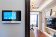 smart screen with smart home with modern living room