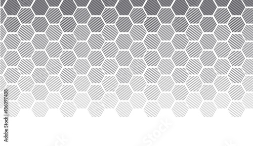 Concept geometry pattern with line. geometric degrade gradient motif for header, poster, background. - 186097438