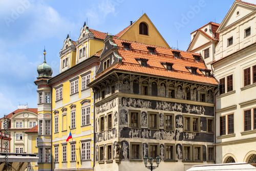 Historical buildings in old town in Prague, Czech republic Poster