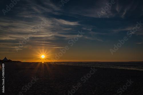 Foto op Plexiglas Noordzee Sonnenuntergang