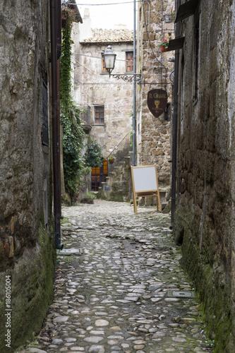 Keuken foto achterwand Smal steegje Calcata