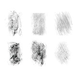 Set texture scratches. Grunge texture for decoration and design. Isolated scuffs texture on white background. Vector illustration