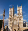 Westminster Abbey and Column London UK
