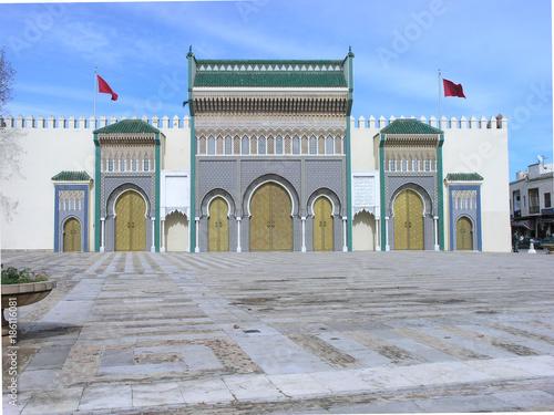 Fotobehang Marokko Fès - Kashbah-Haupteingang