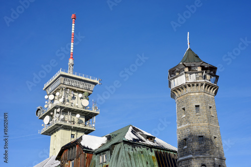 Klinovec Mountain Towers and Buildings Poster
