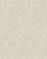 Abstract geometric pattern of the points, lines. A seamless vector background. Graphic beige and white pattern.