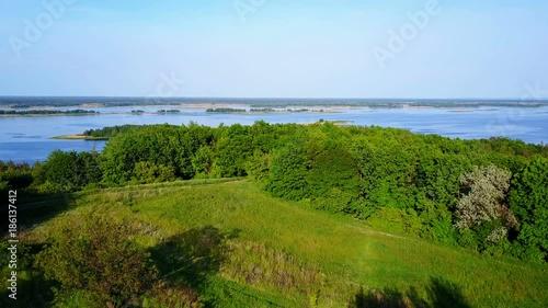 Foto op Canvas Klaprozen Mazing landscape Vitachev Ukraine