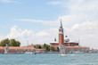 San Giorgio Maggiore Island and the marina, Venice, Veneto, Italy viewed across the lagoon