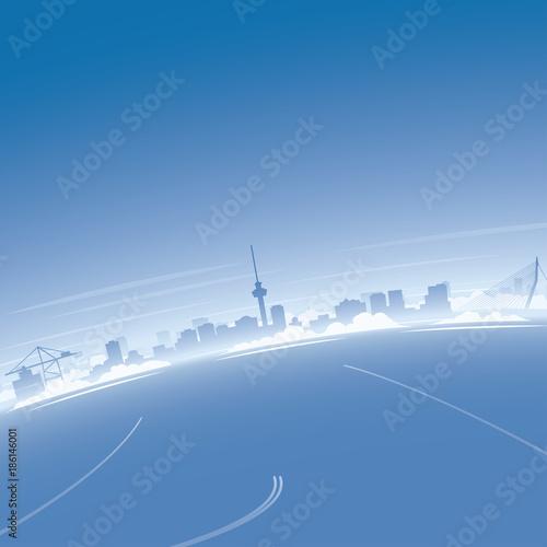 Fotobehang Rotterdam Rotterdam Skyline Aerial View