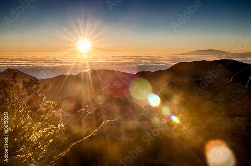 Aluminium Zonsopgang Sunrise at Puʻu ʻUlaʻula (Haleakalā Volcano Summit)