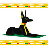 Vector image of an Egyptian dog on a white background - 186150466