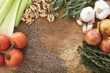 Vegetable and Grains Food Frame - 186153616