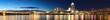 Panorama of the Cincinnati, Ohio skyline at night