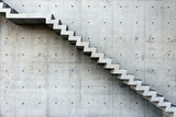 Concrete Staircase with concrete wall out of building - 186177207
