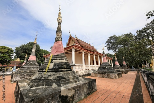 Aluminium Thailand The ancient temple and chapel of the temple in Ratchaburi, a cultural learning center in the past.