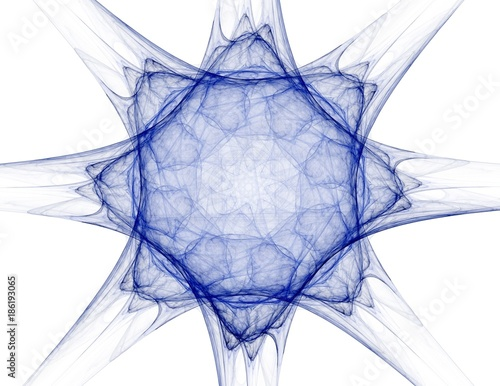 Abstract fractal background - computer-generated image. Digital art. Converging toward the center of the circles. - 186193065