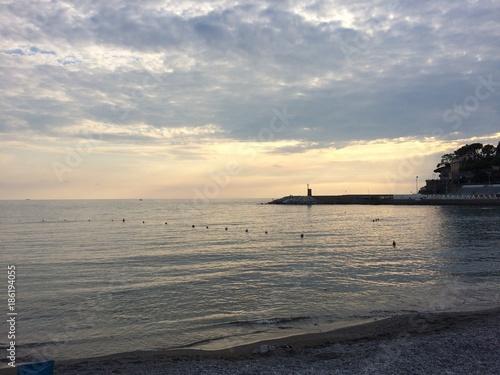 Foto op Plexiglas Liguria tramonto al mare