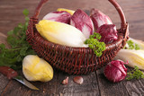 basket with raw chicory - 186194473