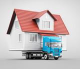 Trasloco, casa su camion prefabbricata  - 186200233