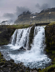 The Iconic Kirkjufellsfoss waterfall in Iceland