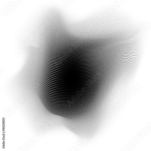 Abstract dot waves particles background. EPS 10 vector