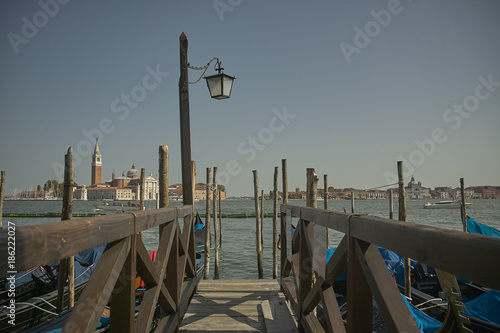 Venetian gondola mooring