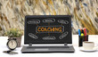 Professional Coaching concept chart on Laptop Screen