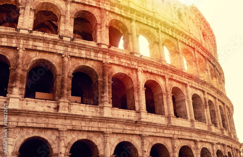 View on Coliseum in Rome