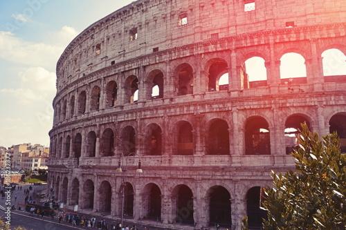 Fotobehang Rome View on Coliseum in Rome